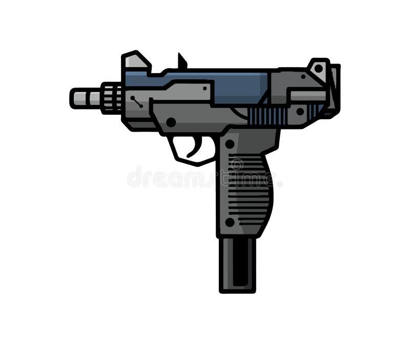 Uzi, automatycznej broni palnej broń ilustracja wektor