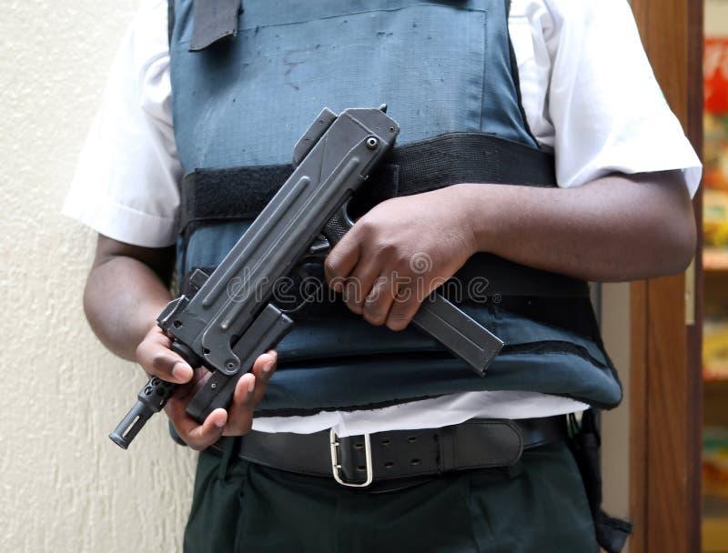 UZI-Maschinengewehr, Abschluss herauf Seitenansicht lizenzfreie stockfotos