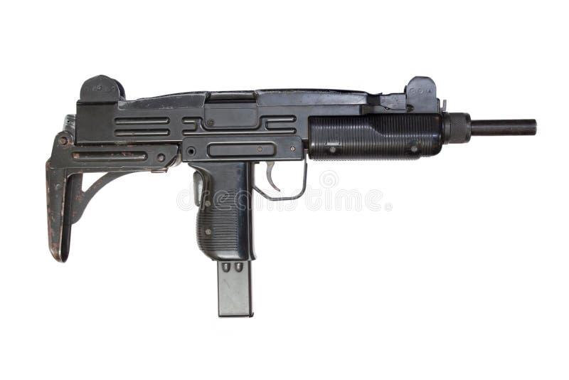 UZI Maschinenpistole lokalisiert auf Weiß lizenzfreies stockbild