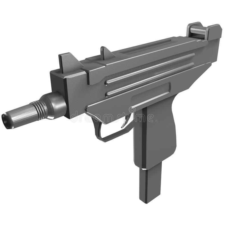 uzi submachine пушки иллюстрация вектора