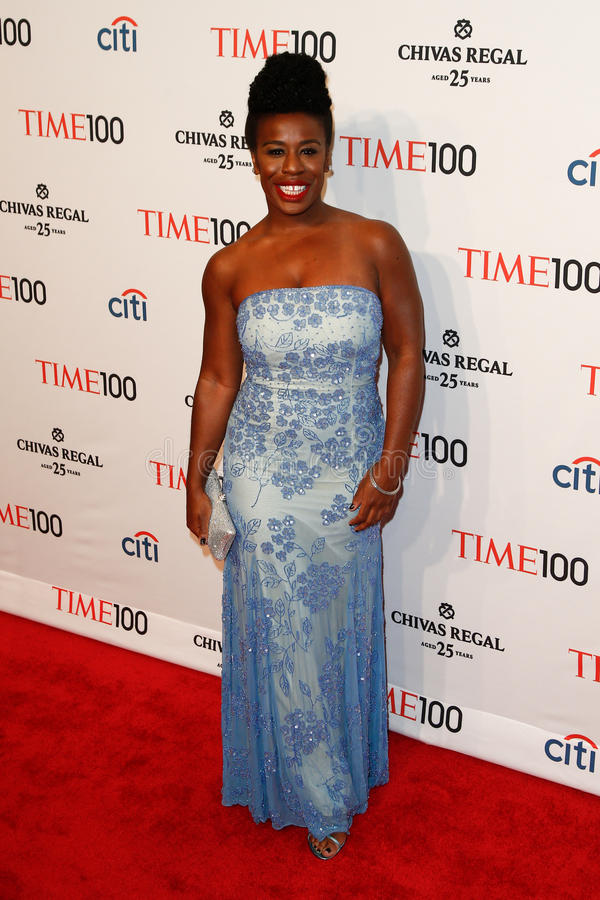 Uzo Aduba. NEW YORK-APR 29: Actress Uzo Aduba attends the Time 100 Gala celebrating its Time 100 Issue of the Most Influential People in the World at the royalty free stock photos