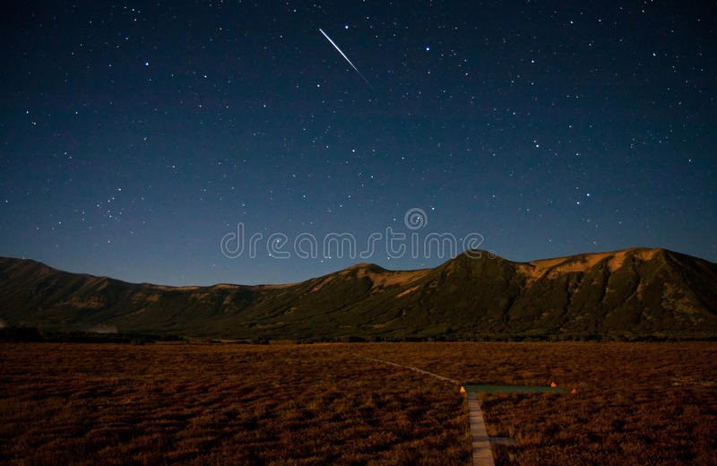 Uzon at night, Kronotsky nature reserve, Russia stock images