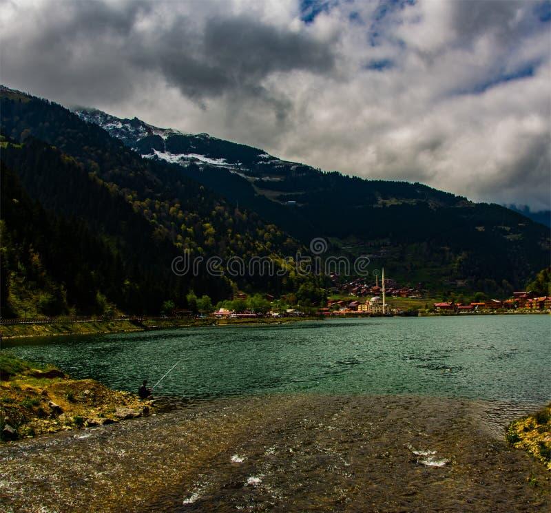 Uzungol湖在特拉布松 库存照片