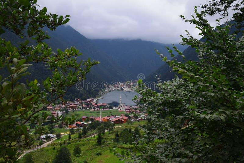 Uzungol Trabzon widok w Turcja zdjęcie stock