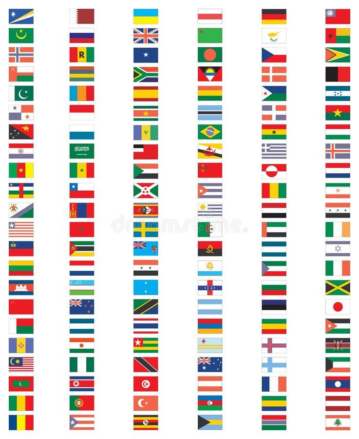 Uzupełnia set flaga świat royalty ilustracja