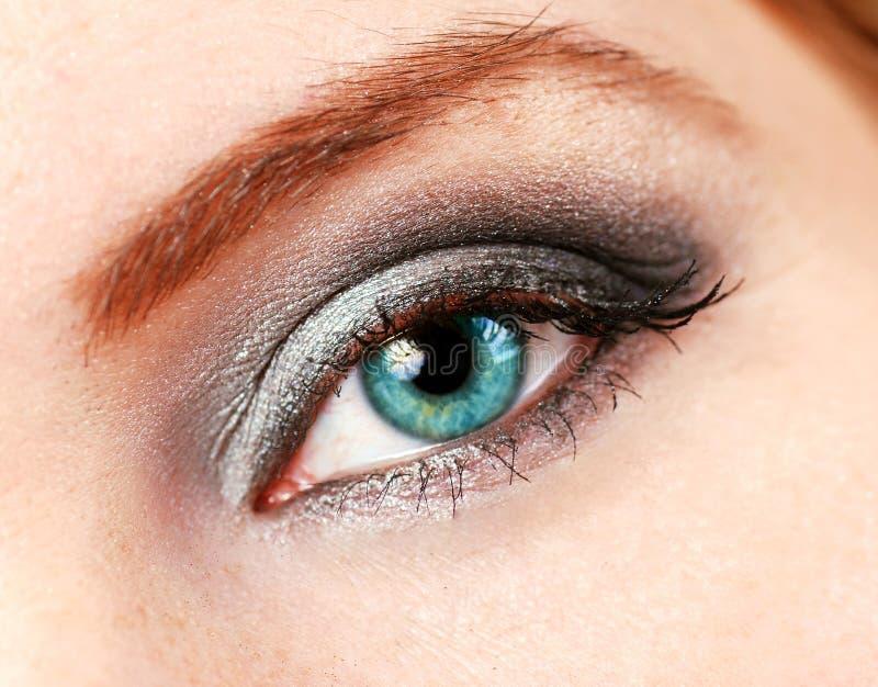 uzupełniająca oko kobieta zdjęcia stock