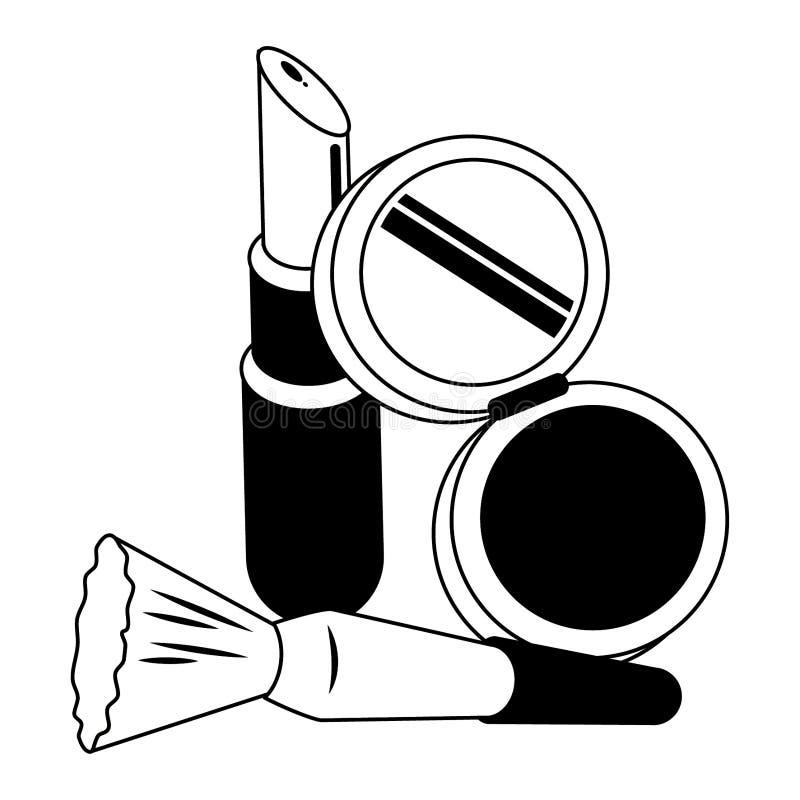 Uzupe?nia i kobiety mody pi?kno w czarny i bia?y ilustracja wektor