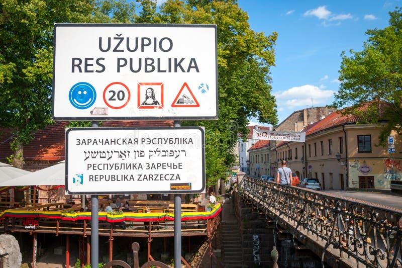Uzupis共和国,自治社区,维尔纽斯,立陶宛 免版税库存照片