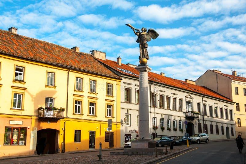 Uzupis é uma vizinhança em Vilnius, Lituânia fotos de stock royalty free