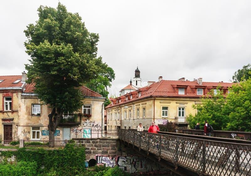 Uzupis - περιοχή Vilnius Λιθουανία στοκ φωτογραφία