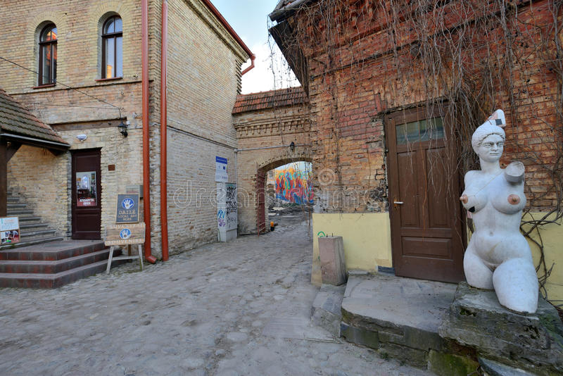 Uzupis-Bezirk, Vilnius lizenzfreies stockfoto