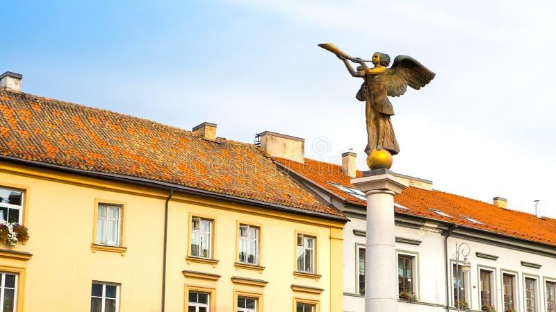 Uzupis-Engel, Symbolviertel einer unabhängigen Republik Uzupis Vilnius, Litauen lizenzfreies stockbild