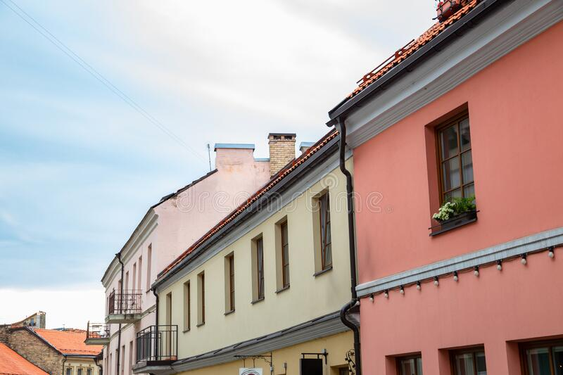Uzupis old town in Vilnius, Lithuania. Europe royalty free stock photos