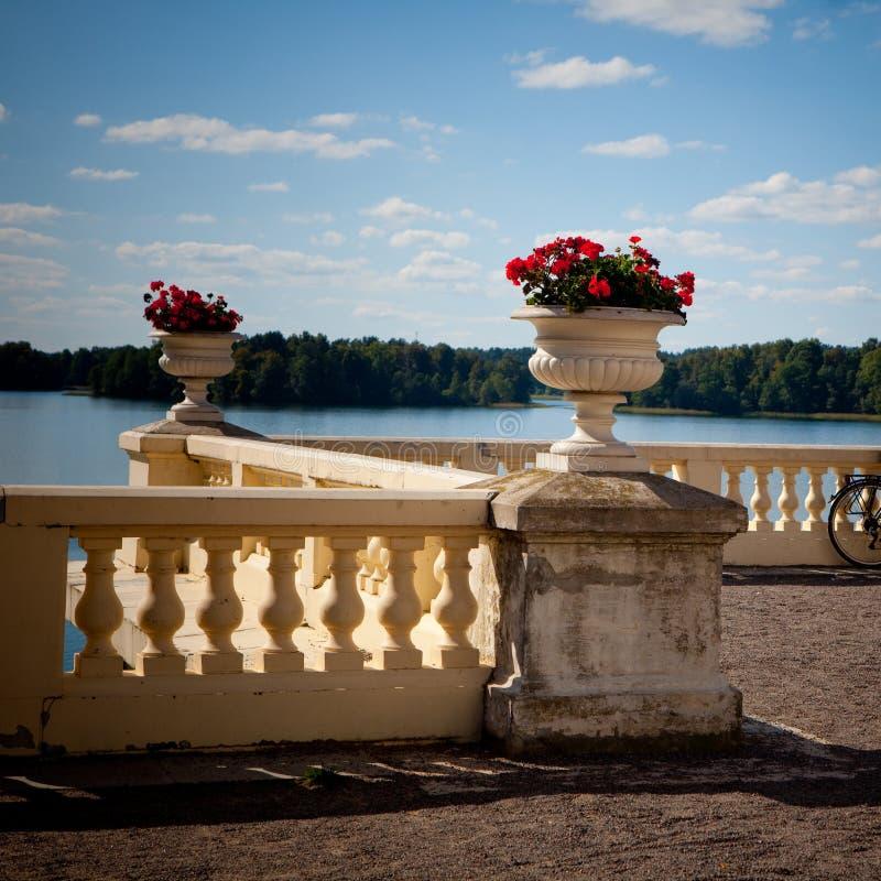 Uzutrakis Landsitz in Litauen lizenzfreies stockbild