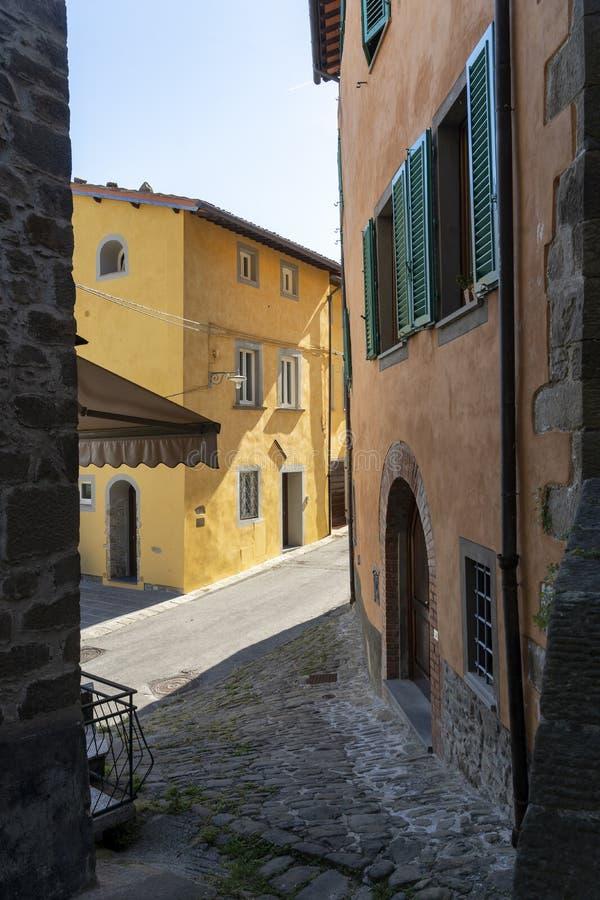 Uzzano, old village in Tuscany. Streets of Uzzano, Pistoia, Tuscany, Italy, historic village stock photos