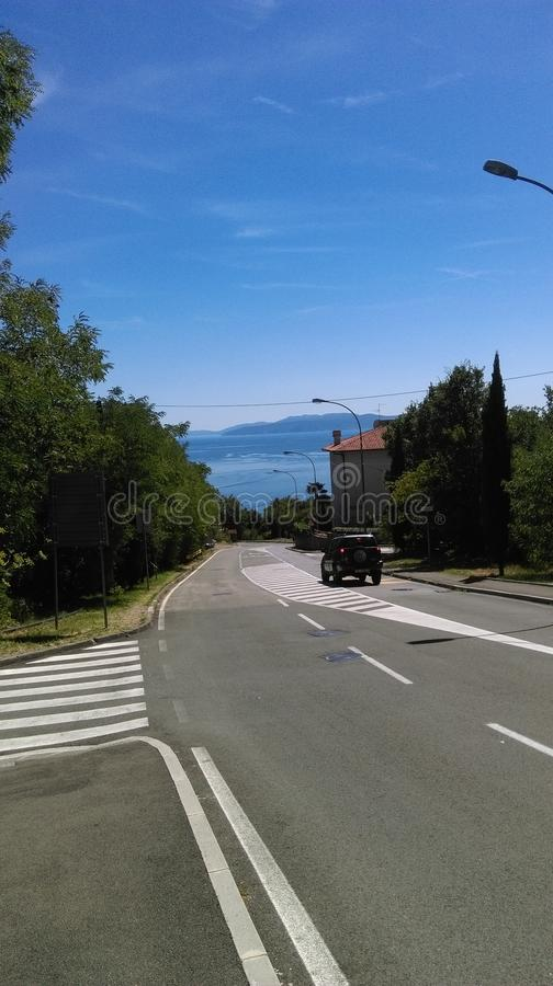 Vá à Croácia de Opatija do mar imagem de stock royalty free