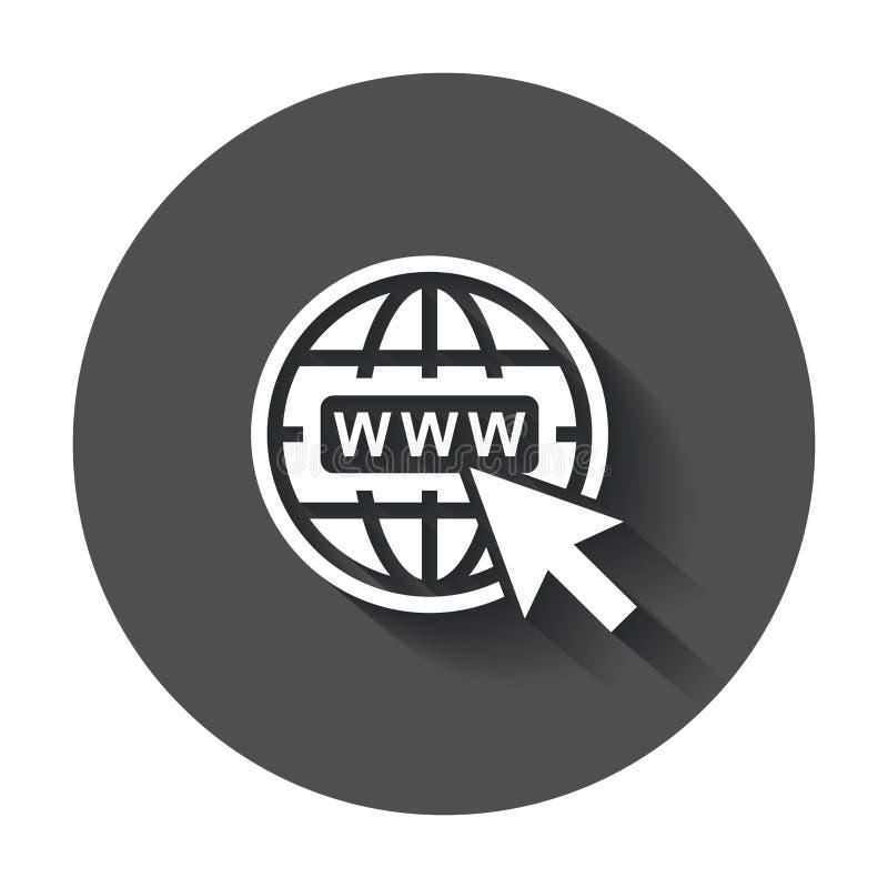 Vá ao ícone da Web ilustração stock
