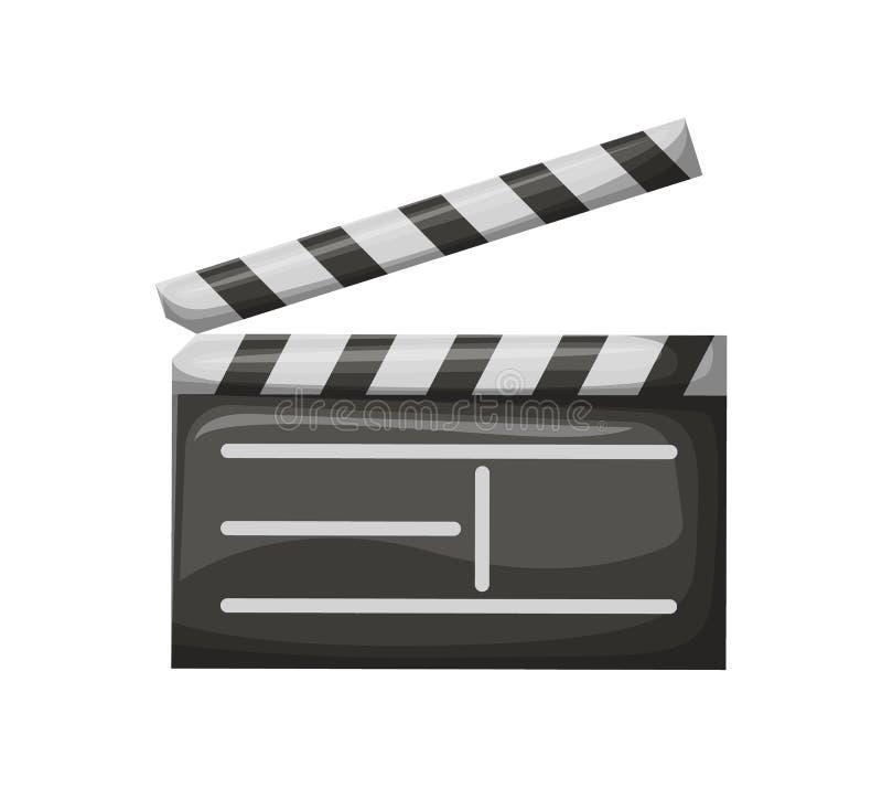 Válvula com listras, vetor do filme do industria do cinema ilustração stock