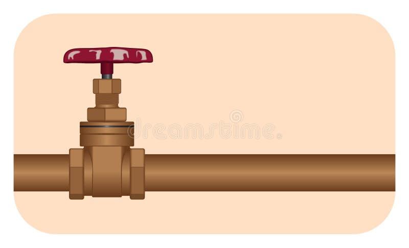 Válvula da água ilustração do vetor