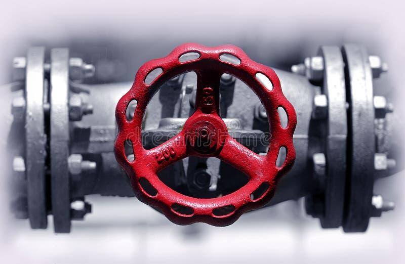 Válvula de batente vermelha imagens de stock