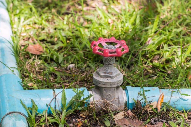 Válvula de control del agua fotografía de archivo