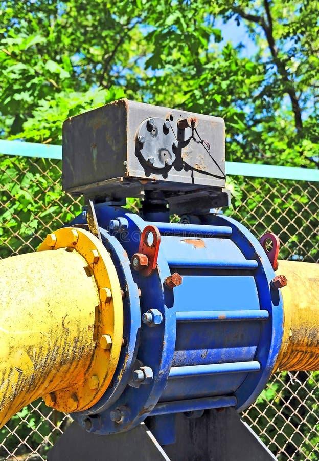 Válvula de gás no encanamento imagens de stock royalty free