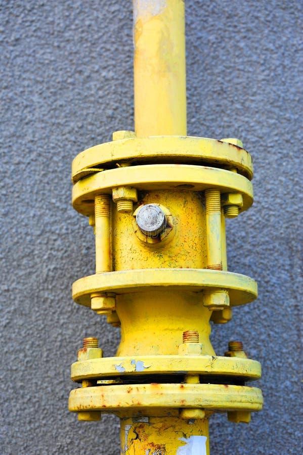 Válvula de gás no encanamento fotos de stock royalty free
