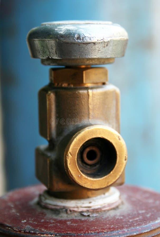 Válvula de seguridad para equipos de gas foto de archivo libre de regalías