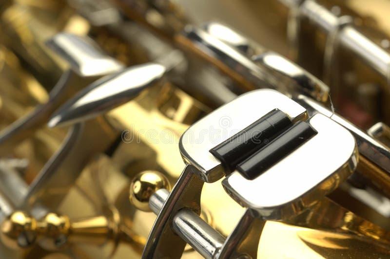 Válvula del Clarinet foto de archivo