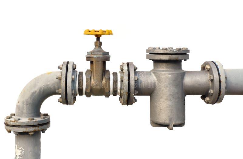 Válvula del tubo de agua imágenes de archivo libres de regalías