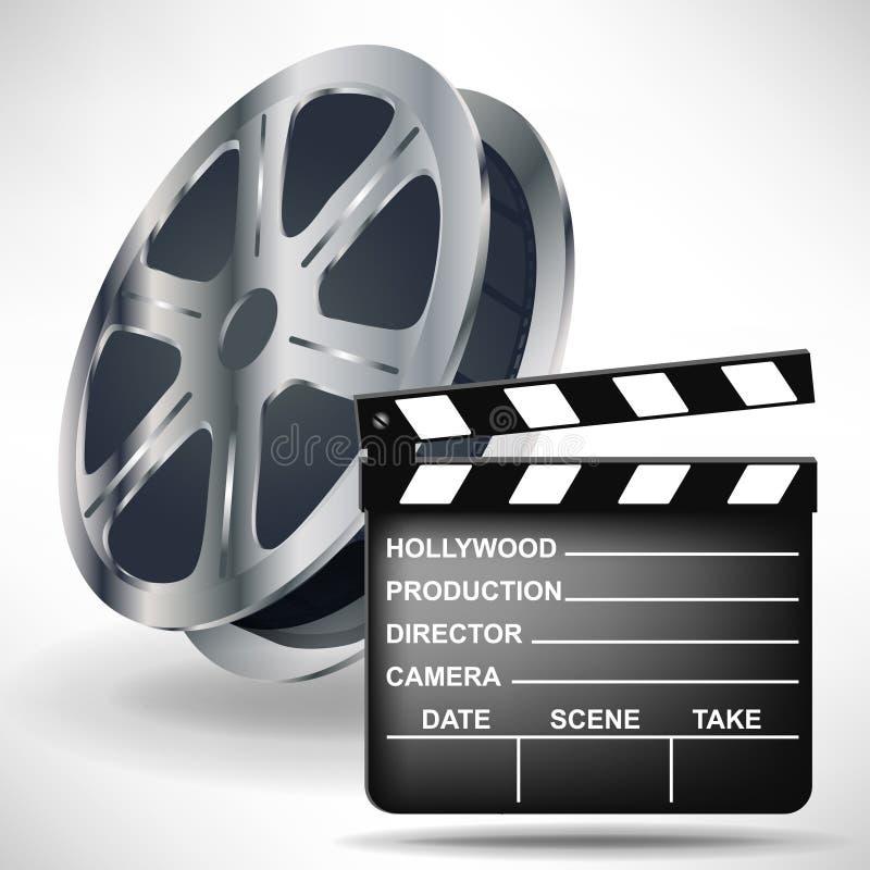 Válvula do filme com carretel de película ilustração do vetor