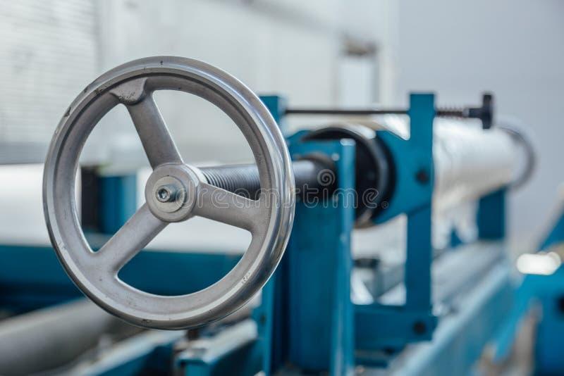 Válvula industrial da máquina-instrumento Feche acima da vista fotos de stock royalty free
