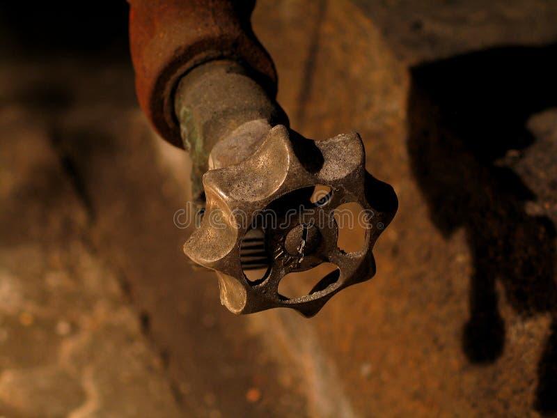 Válvula oxidada imagen de archivo
