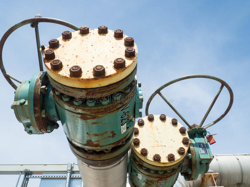 Válvulas de gás natural do vintage imagens de stock royalty free