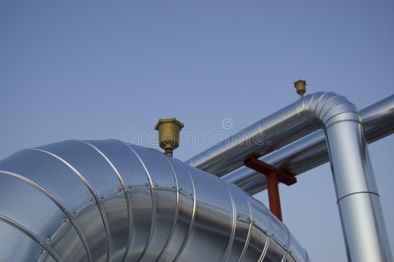 Válvulas de la planta de aire acondicionado fotografía de archivo libre de regalías