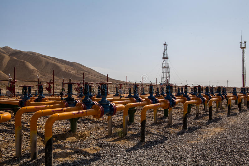 Válvulas del petróleo y gas foto de archivo