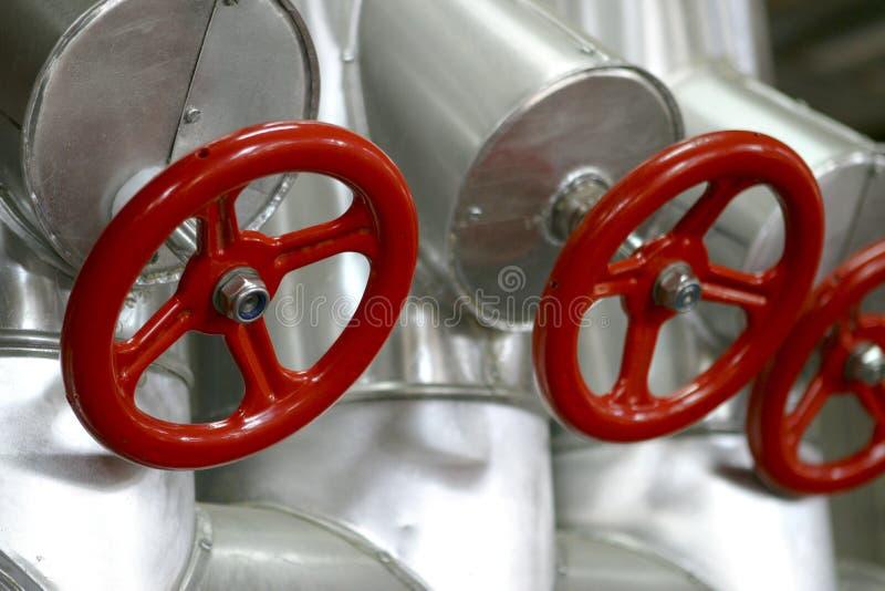 Válvulas rojas foto de archivo libre de regalías