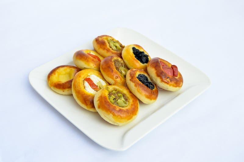 Vária mini pizza deliciosa deliciosa imagens de stock royalty free