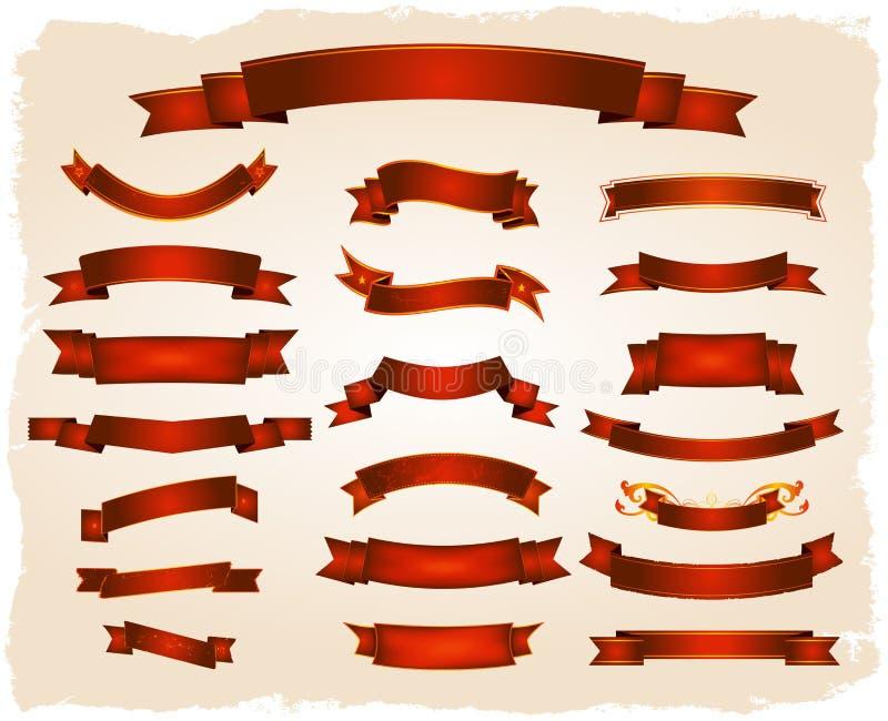 Várias bandeiras e série dos rolos ilustração stock
