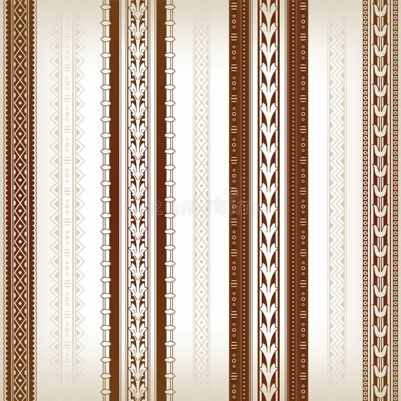 Várias beiras decorativas e geométricas ilustração royalty free
