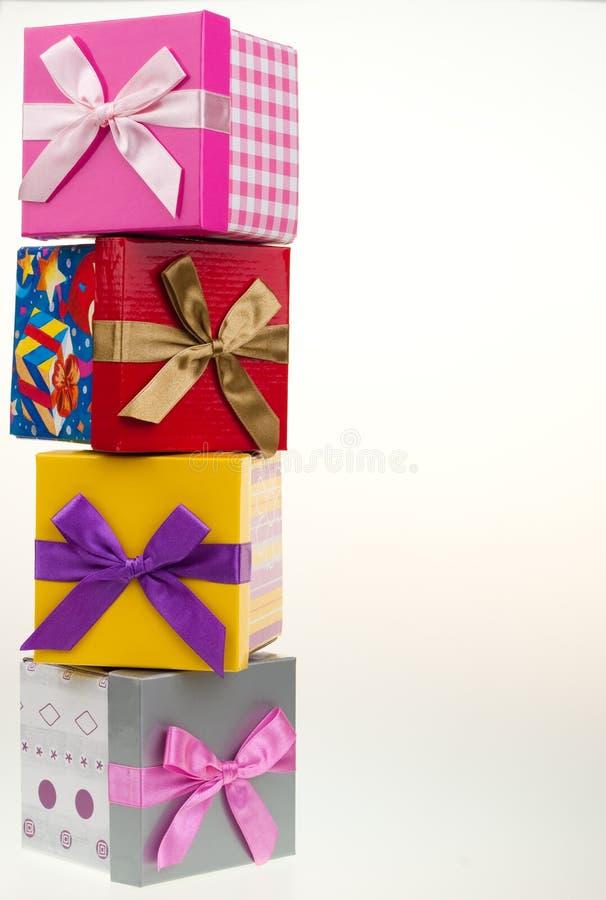Várias caixas de presente imagens de stock royalty free