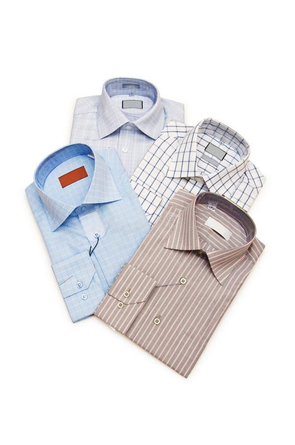 Várias camisas isoladas foto de stock royalty free