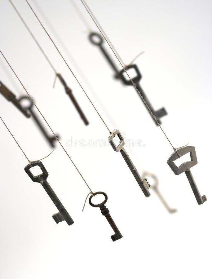 Várias chaves imagens de stock