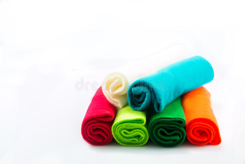 Várias cores da flanela fotografia de stock