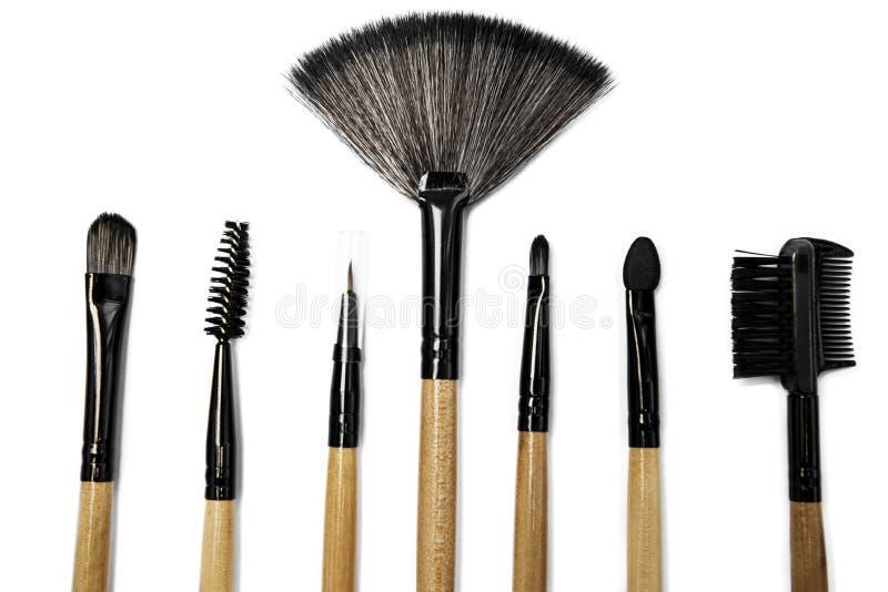 Várias escovas para ferramentas profissionais da composição imagem de stock royalty free