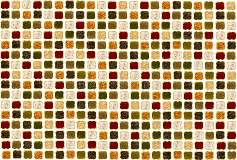Várias especiarias em uma cebola vermelha da curcuma do alho-porro da paprika do fundo branco imagens de stock royalty free