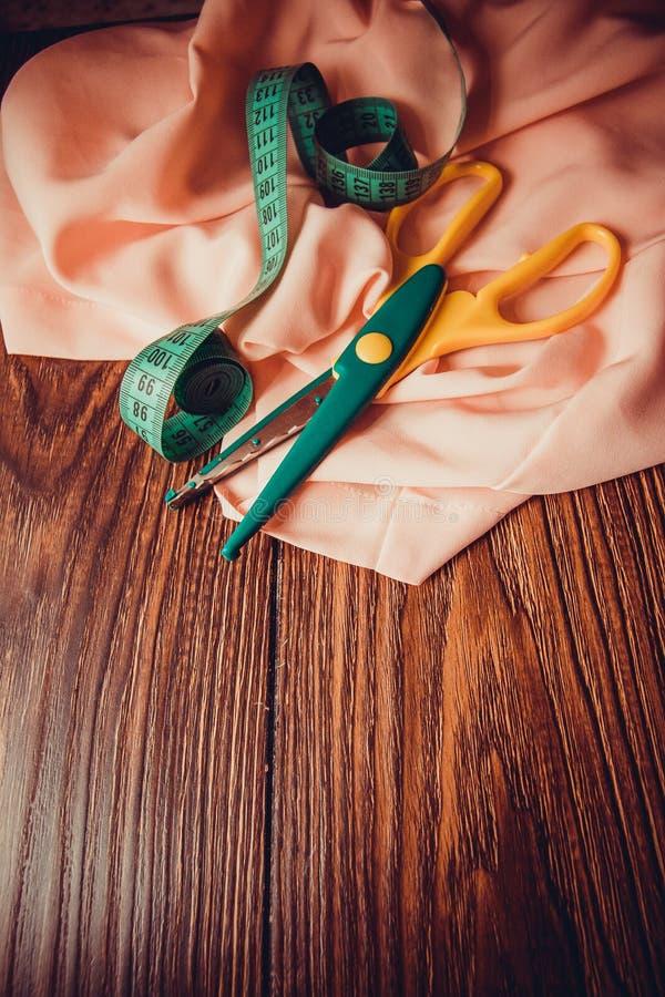 Várias fitas de seda fotografia de stock