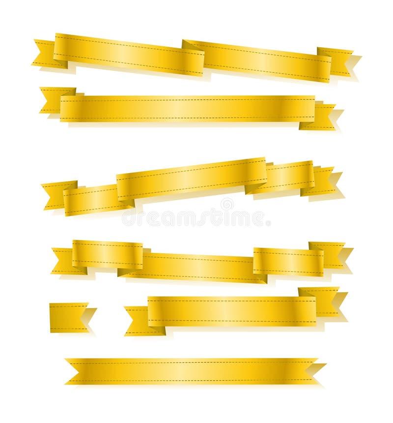 Download Várias Fitas Douradas Da Bandeira Ajustadas Ilustração Stock - Ilustração de flash, projeto: 65579138