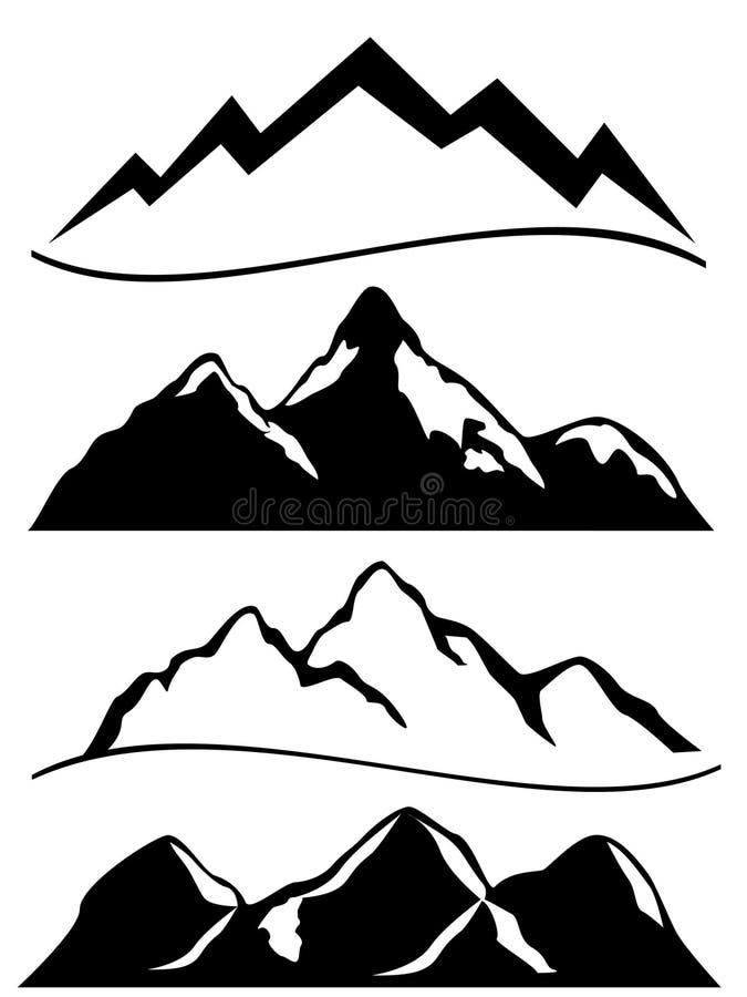 Várias montanhas ilustração stock