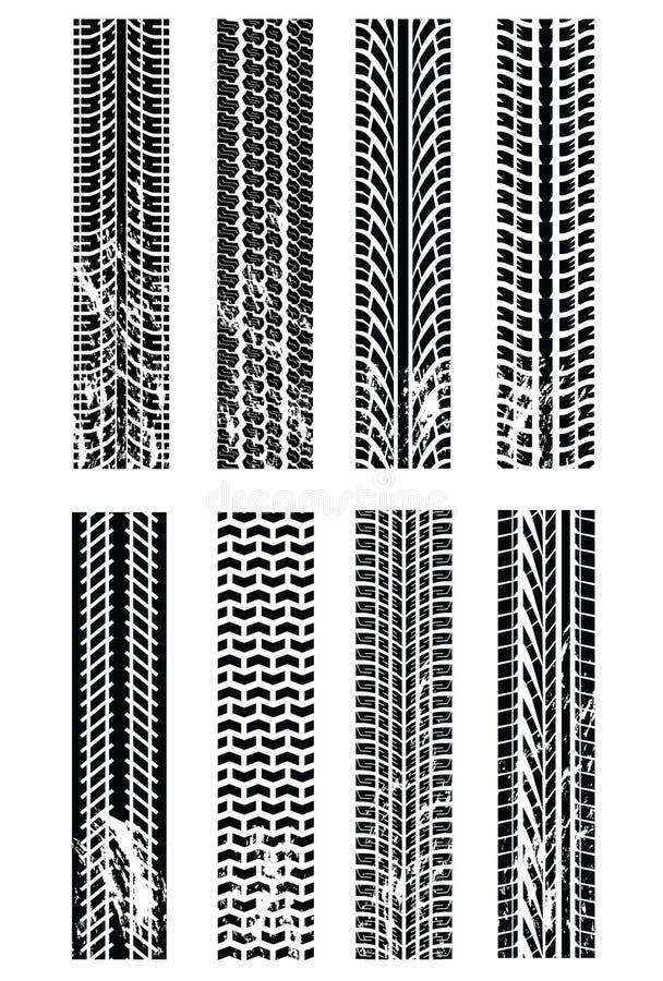 Várias trilhas do pneumático ilustração stock